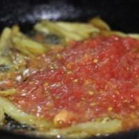 Нерка с баклажанами и помидорами шаг 4