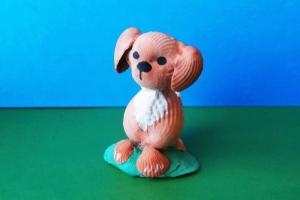 Сувенир из ракушек «Собачка»