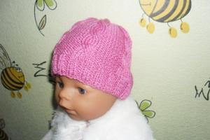 Шапочка с косами на куклу Baby Born