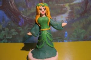 Эльфийская принцесса из пластилина