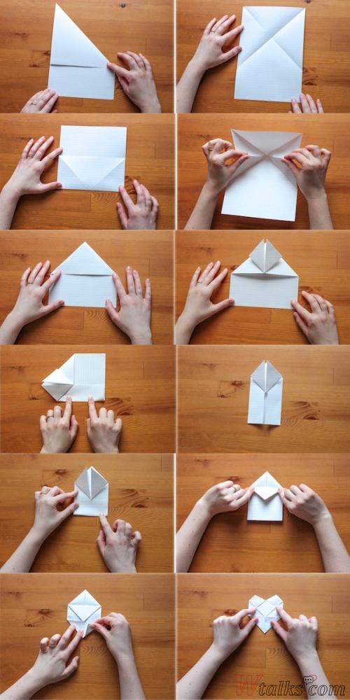 Как сделать красивый конверт для письма из бумаги а4
