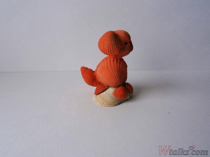 Сувенир из ракушек «Собачка» шаг 8