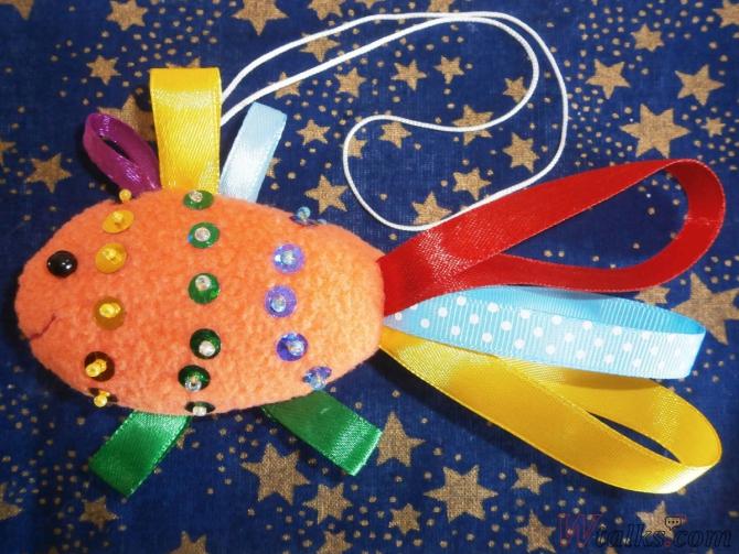 Декоративная игрушка «Золотая рыбка» шаг 13