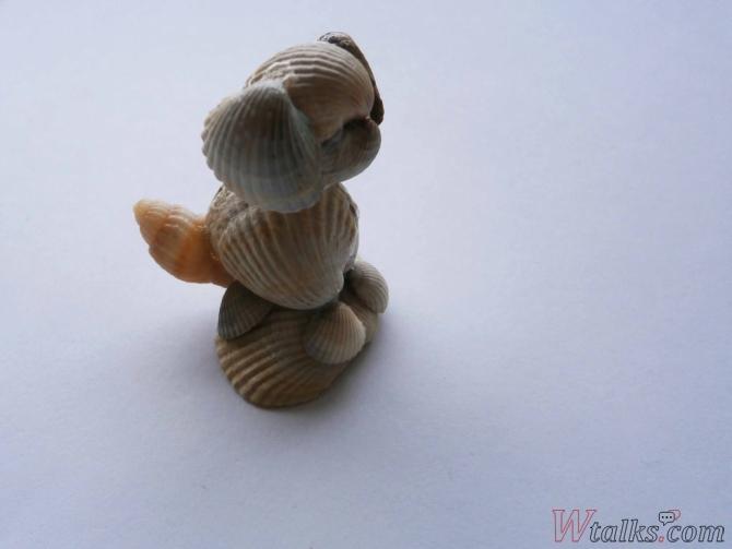 Сувенир из ракушек «Собачка» шаг 7