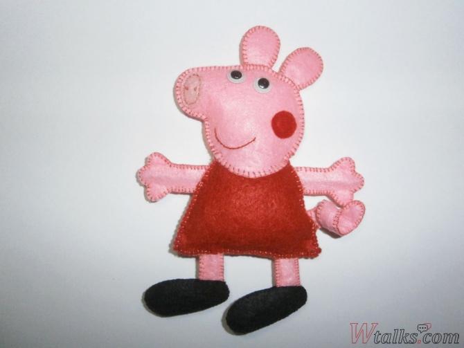 Игрушка из фетра «Свинка Пеппа» шаг 9