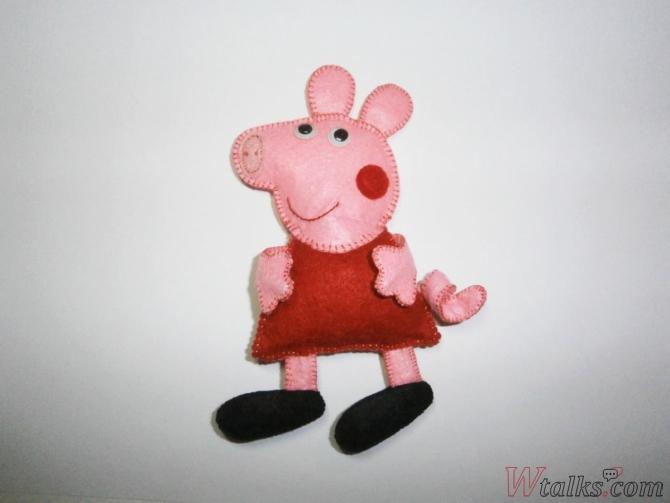 Игрушка из фетра «Свинка Пеппа» шаг 11