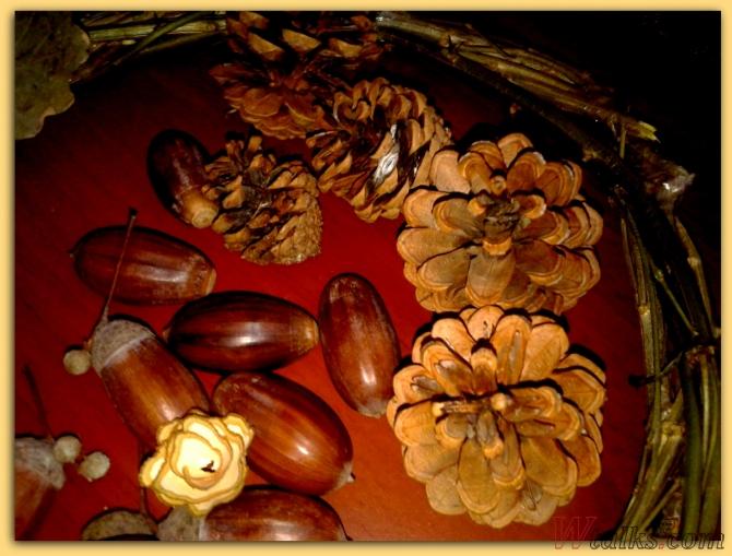Венок из природных материалов шаг 4
