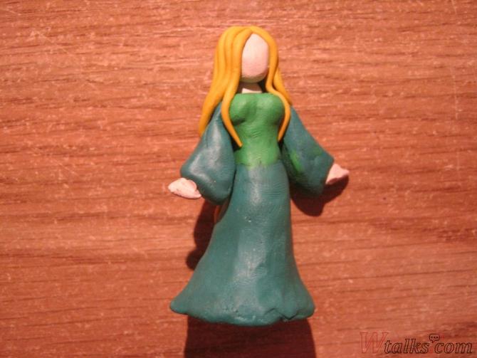 Эльфийская принцесса из пластилина шаг 10