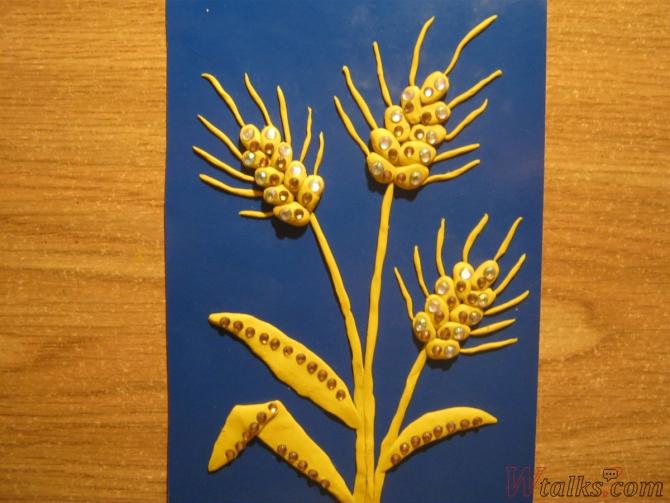 Аппликация «Спелая пшеница» шаг 11