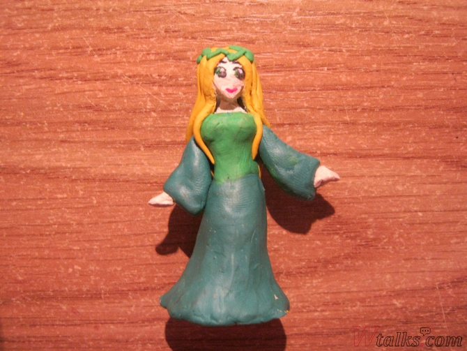 Эльфийская принцесса из пластилина шаг 15