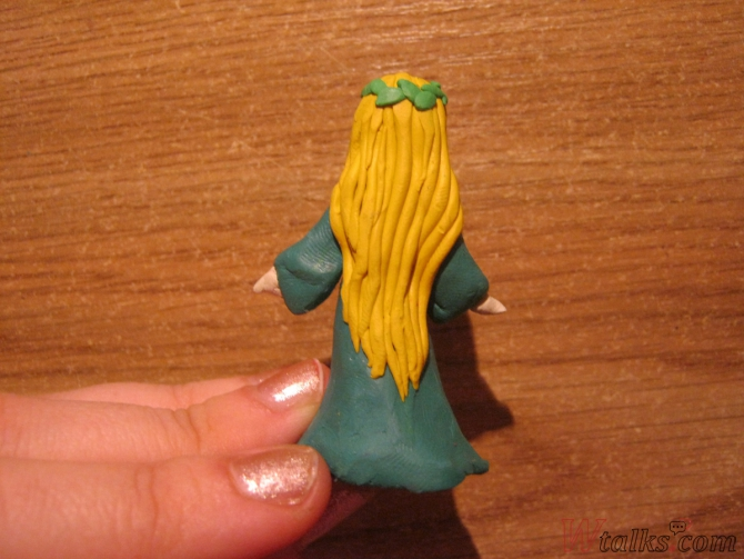 Эльфийская принцесса из пластилина шаг 16