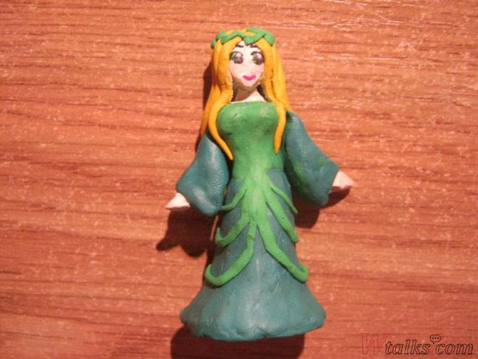 Эльфийская принцесса из пластилина шаг 18