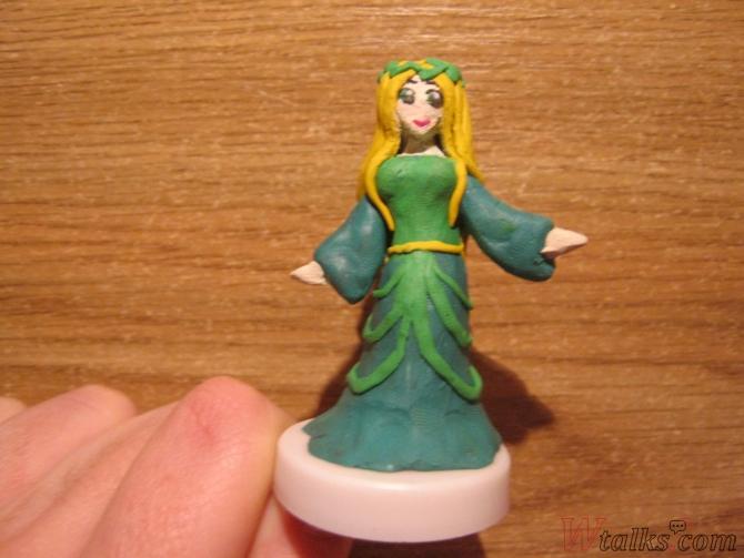 Эльфийская принцесса из пластилина шаг 20