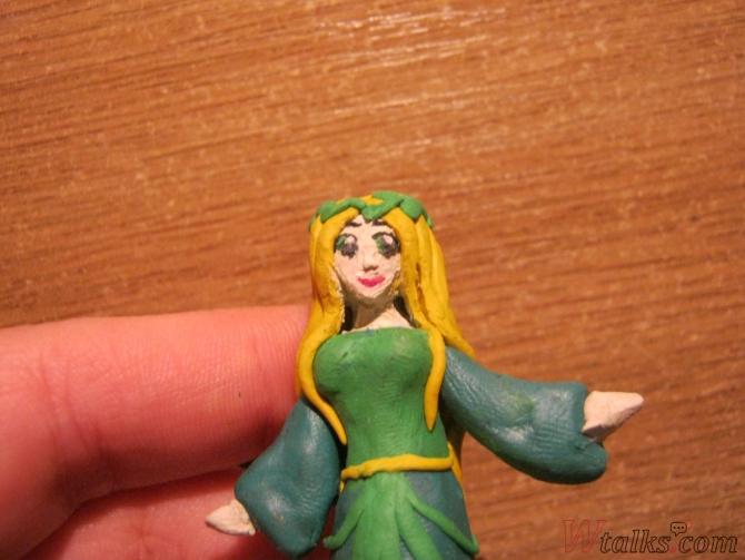 Эльфийская принцесса из пластилина шаг 22