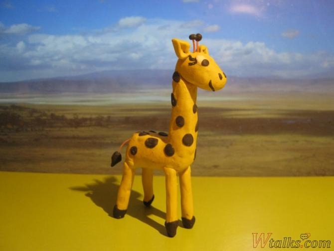 Жираф из пластилина поэтапно