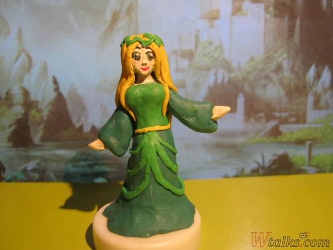 Эльфийская принцесса из пластилина шаг 23