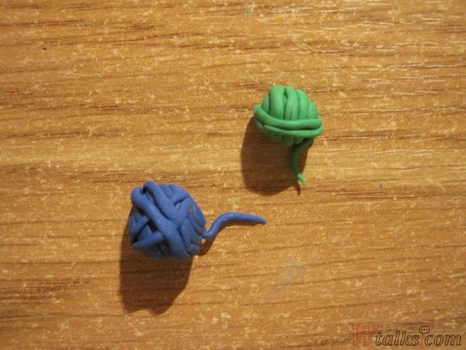 Игривый кот из пластилина шаг 25