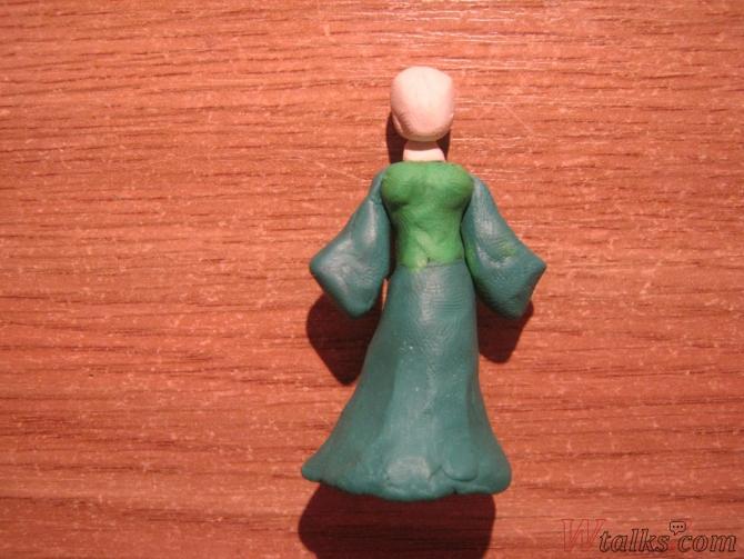 Эльфийская принцесса из пластилина шаг 6