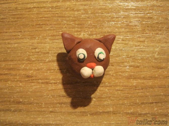 Игривый кот из пластилина шаг 7