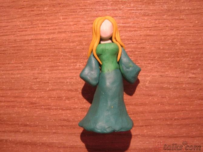 Эльфийская принцесса из пластилина шаг 8