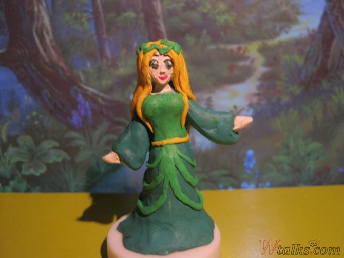 Эльфийская принцесса из пластилина шаг 24