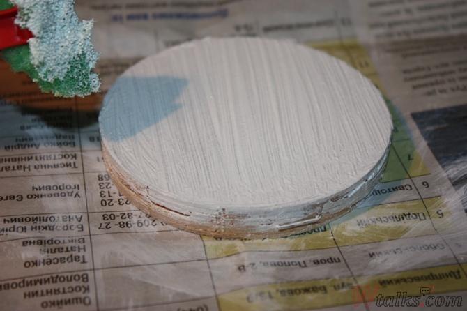 Картина акриловыми красками с использованием текстурной пасты шаг 3