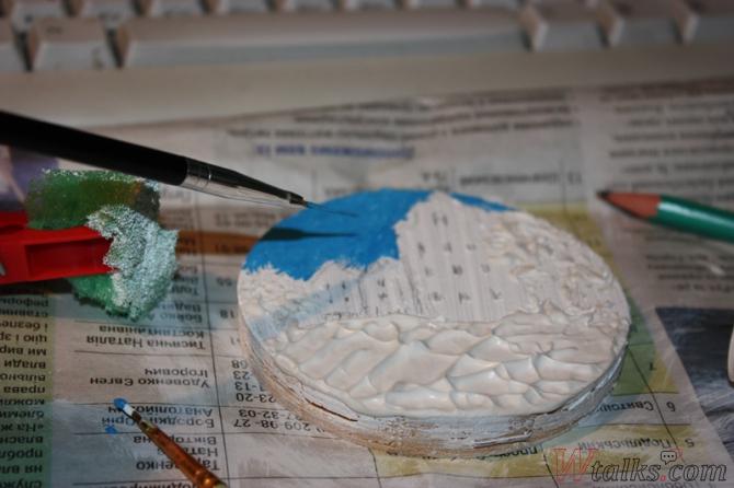 Картина акриловыми красками с использованием текстурной пасты шаг 12