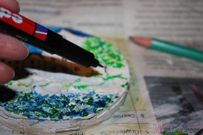Картина акриловыми красками с использованием текстурной пасты шаг 19