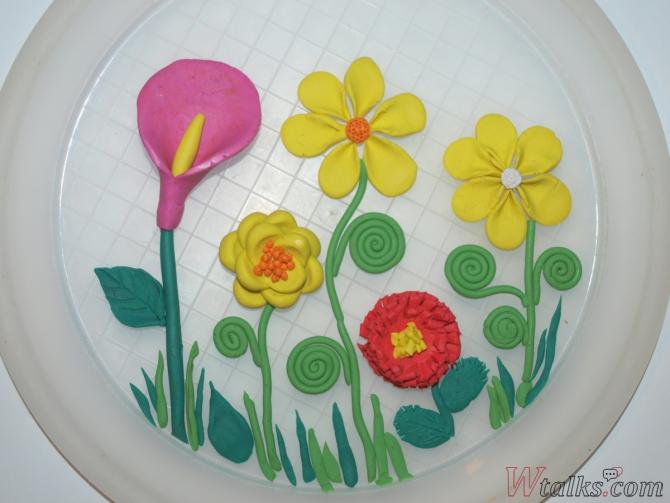 Лепка из пластилина с детьми: цветы шаг 11