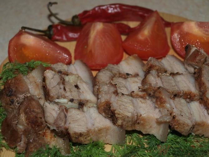 свиная прослойка запеченная в духовке пошаговый рецепт