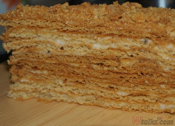 Торт из слоеного теста со сметанным кремом рецепт пошагово