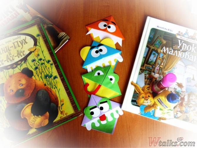 """Закладки для книг """"Смешные рожицы"""" шаг 8"""