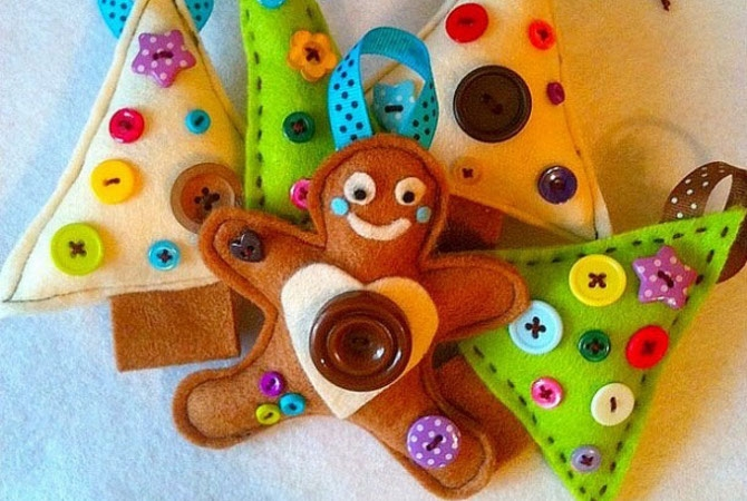 Новогодняя игрушка своими руками фото для детей
