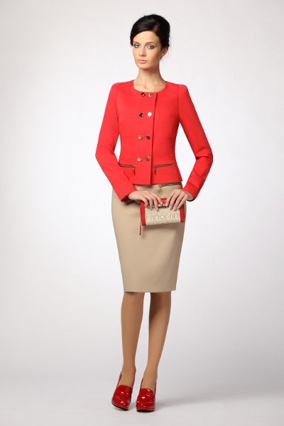 Модели женского делового костюма