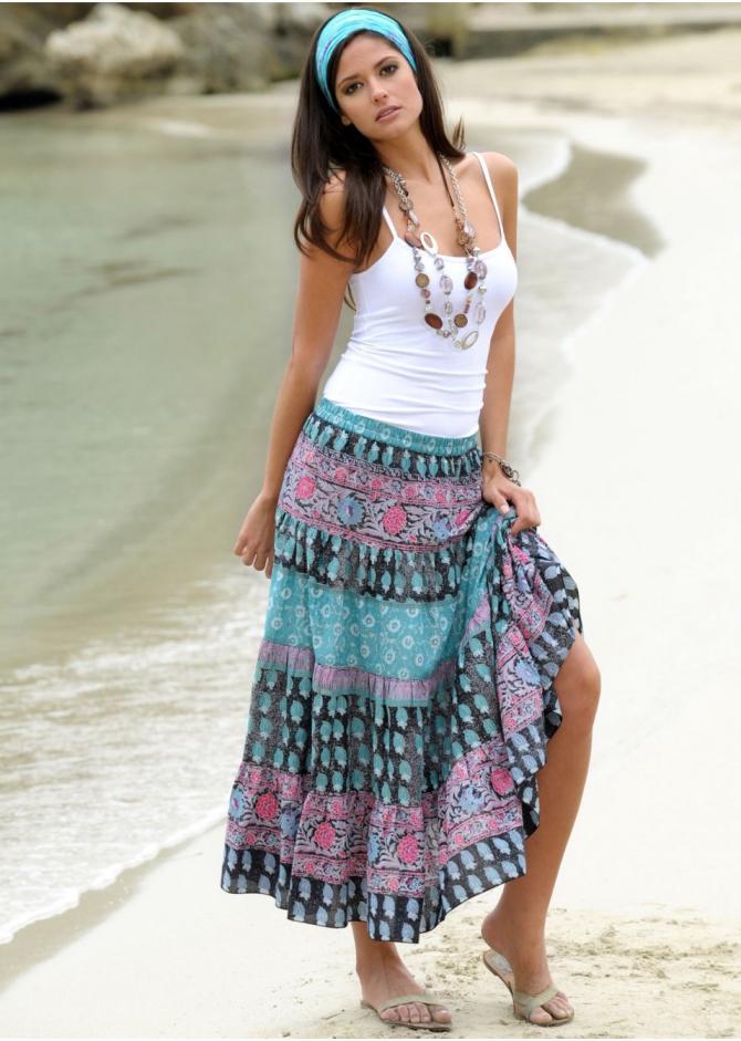 Пляжные Длинные Юбки