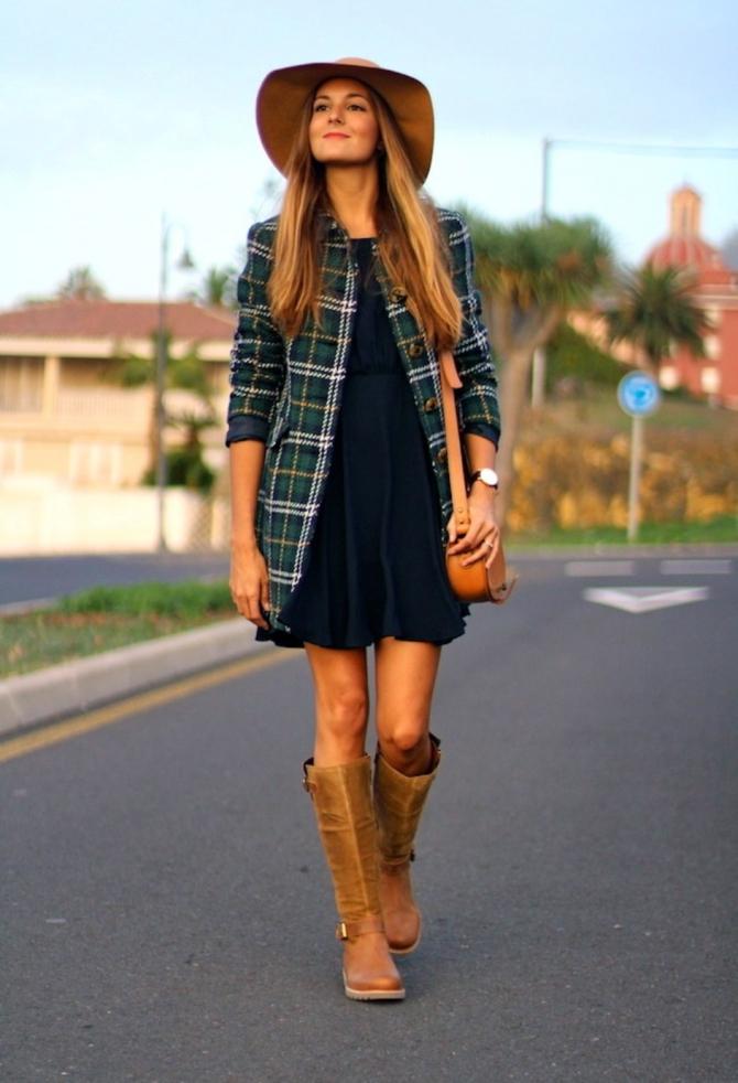 Стиль платье с шляпой