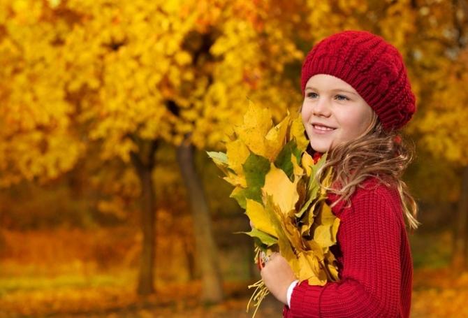 Осенние фото на природе с детьми