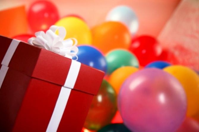 Подарок на день рождения шарики 87