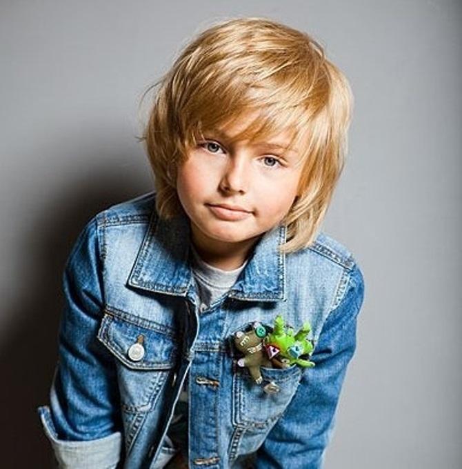 стрижка мальчика с длинной макушкой